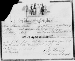 Butters: 1856 Marriage License