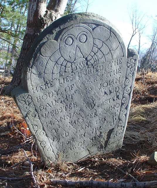 Webster, Mary (1741-1760) [Headstone photo]
