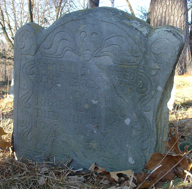 Kimball, David (1671-1743) [Headstone photo]