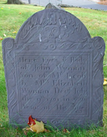 Wyman, John (1700-1721) [Headstone photo]