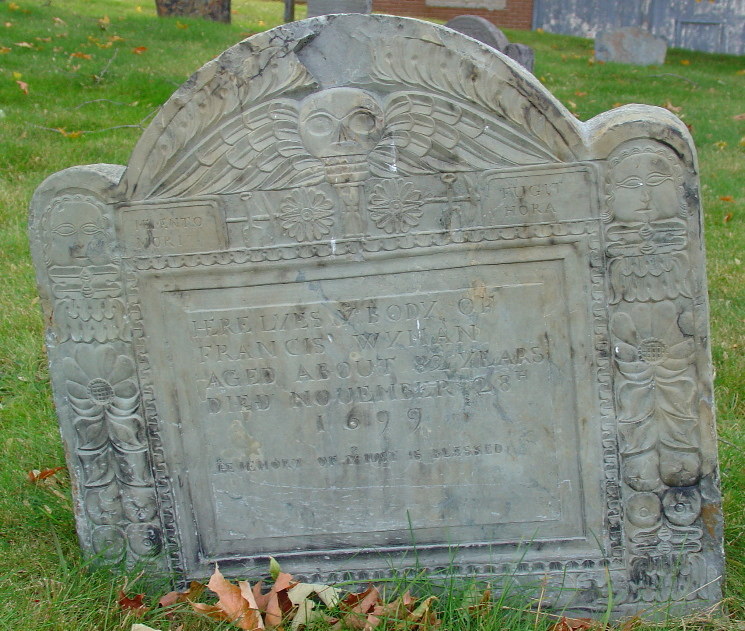 Wyman, Francis (1619-1699) [Headstone photo]