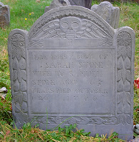 Stone, Sarah Stearns (1635-1700) [Headstone photo]