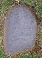 Sawyer, Joshua (20 Jun 1684-1 Mar 1738) [Headstone photo]