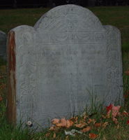Whitmore, Rebecca Gardner (abt 1666-Jun 1709) [Headstone photo]