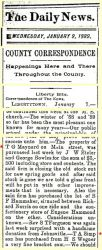 Maynard/Simpson: 1889 News clipping