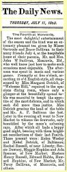Downey: 1889 News clipping