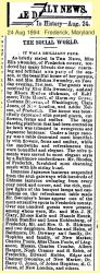 Downey: 1894 News clipping