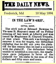 Maynard: 1894 News clipping