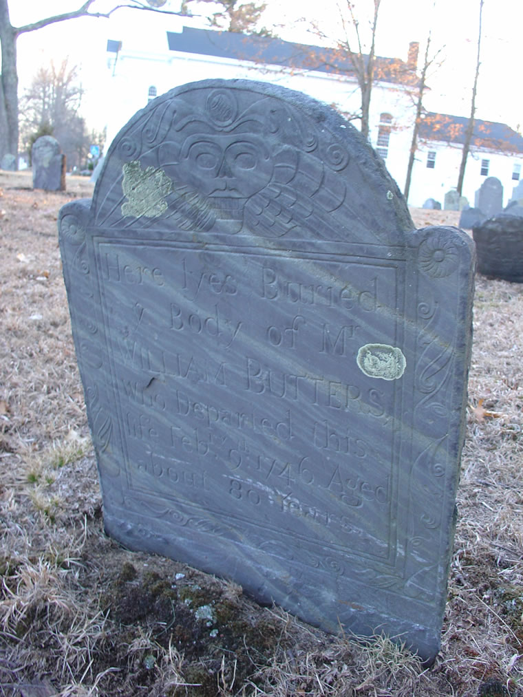Butters, William Jr. (1665- 9 Feb 1746) [Headstone photo]