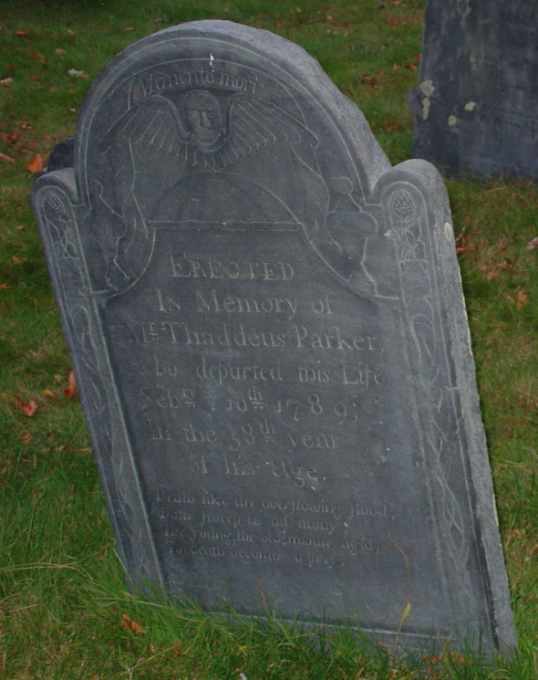 Parker, Thaddeus (1731-1789)  [Headstone photo]
