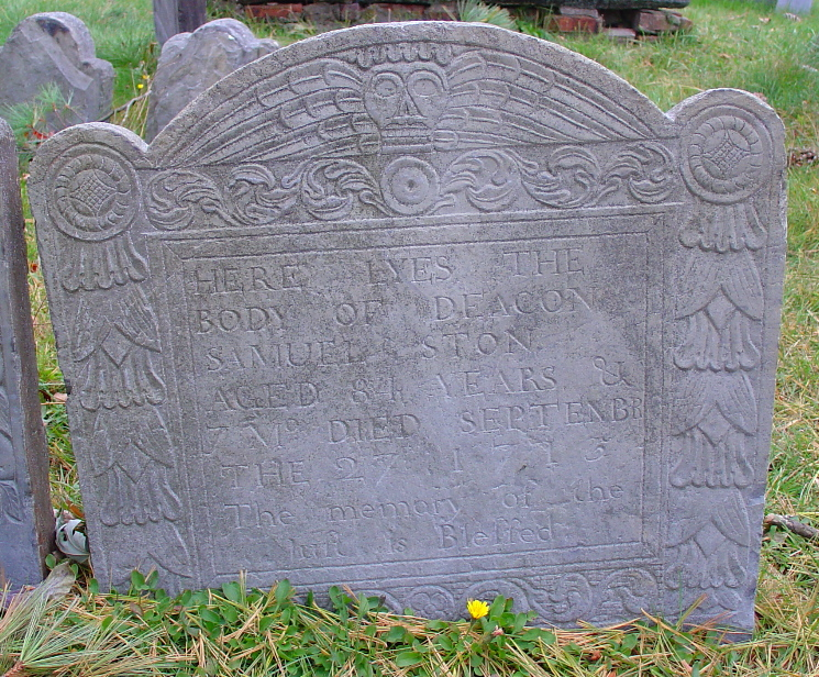 Stone, Samuel Stone (1629/31-27 Sep 1713) [Headstone photo]