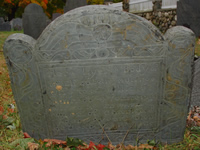 Munroe, Elizabeth Johnson (1636-14 Dec 1715)  [Headstone photo]