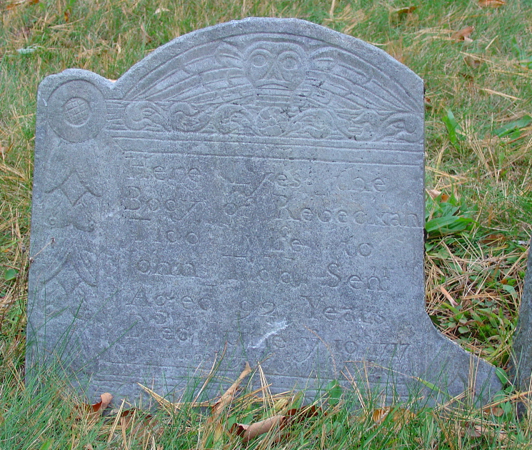 Tidd, Rebecca Wood (abt 1625-10 Jun 1717) [Headstone photo]