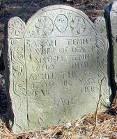 Tenney, Sarah Boynton (1672-1709) [Headstone photo]