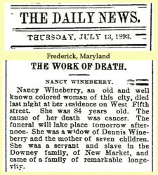 Downey: 1893 News clipping