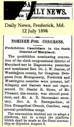 Stone: 1894 News clipping