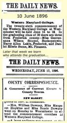 Stone: 1896 News clipping